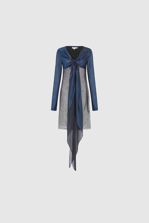 Bicolour Lurex Dress