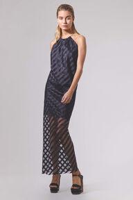 Sheer Stripe Dress