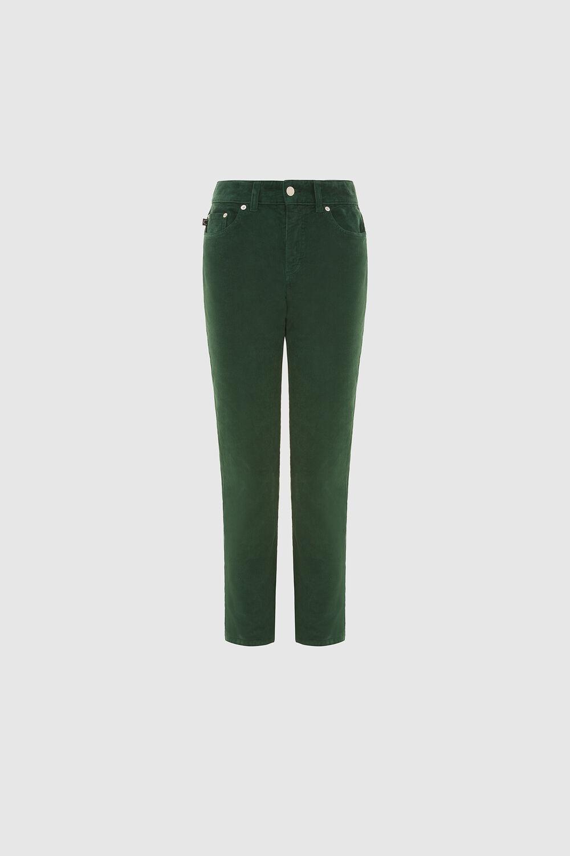 Yves Slim Crop Corduroy Trousers