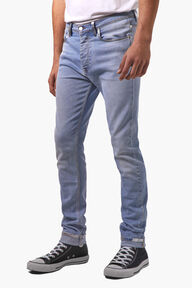 Terry Skinny Jeans With Silver Paint