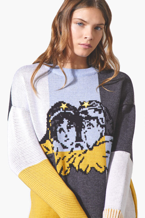 Angels Mock Neck Sweater