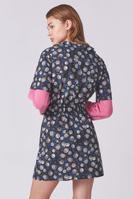Ruffle Neck Wrap Dress