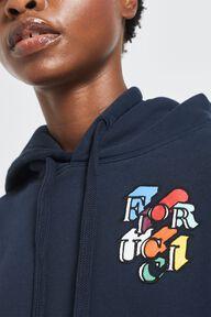 Flying Logo Print Hoodie Navy