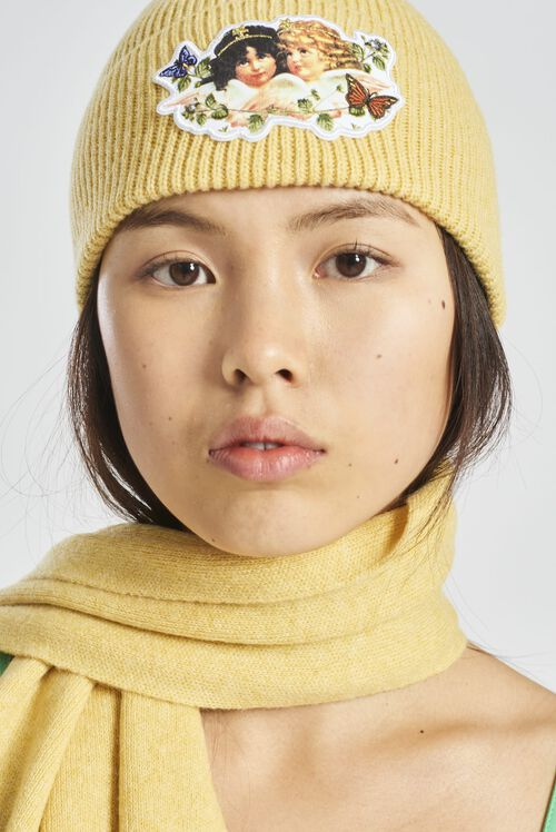 Woodland Angel Beanie Hat Yellow