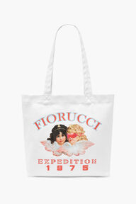 Snow Angels Tote Bag White