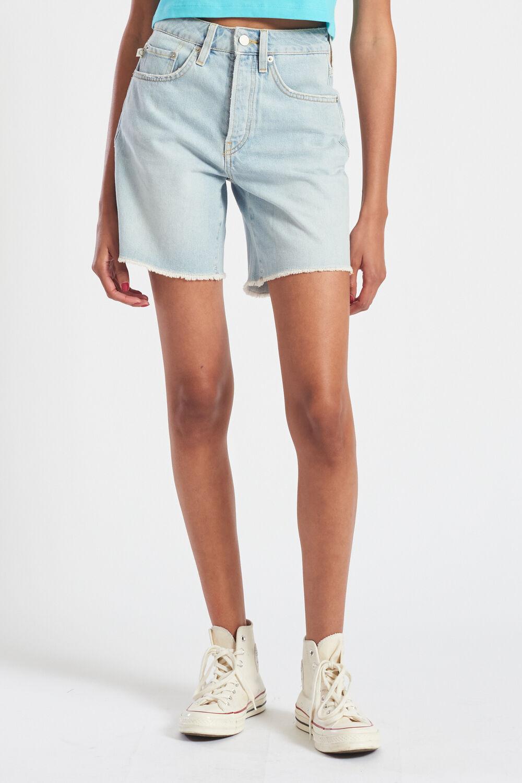 Venus Angels Cut Off Denim Shorts Blue