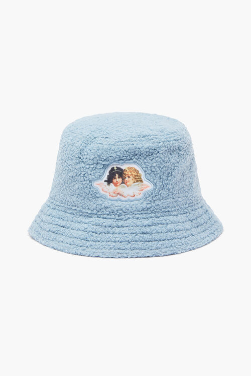 Angels Shearling Bucket Hat Blue