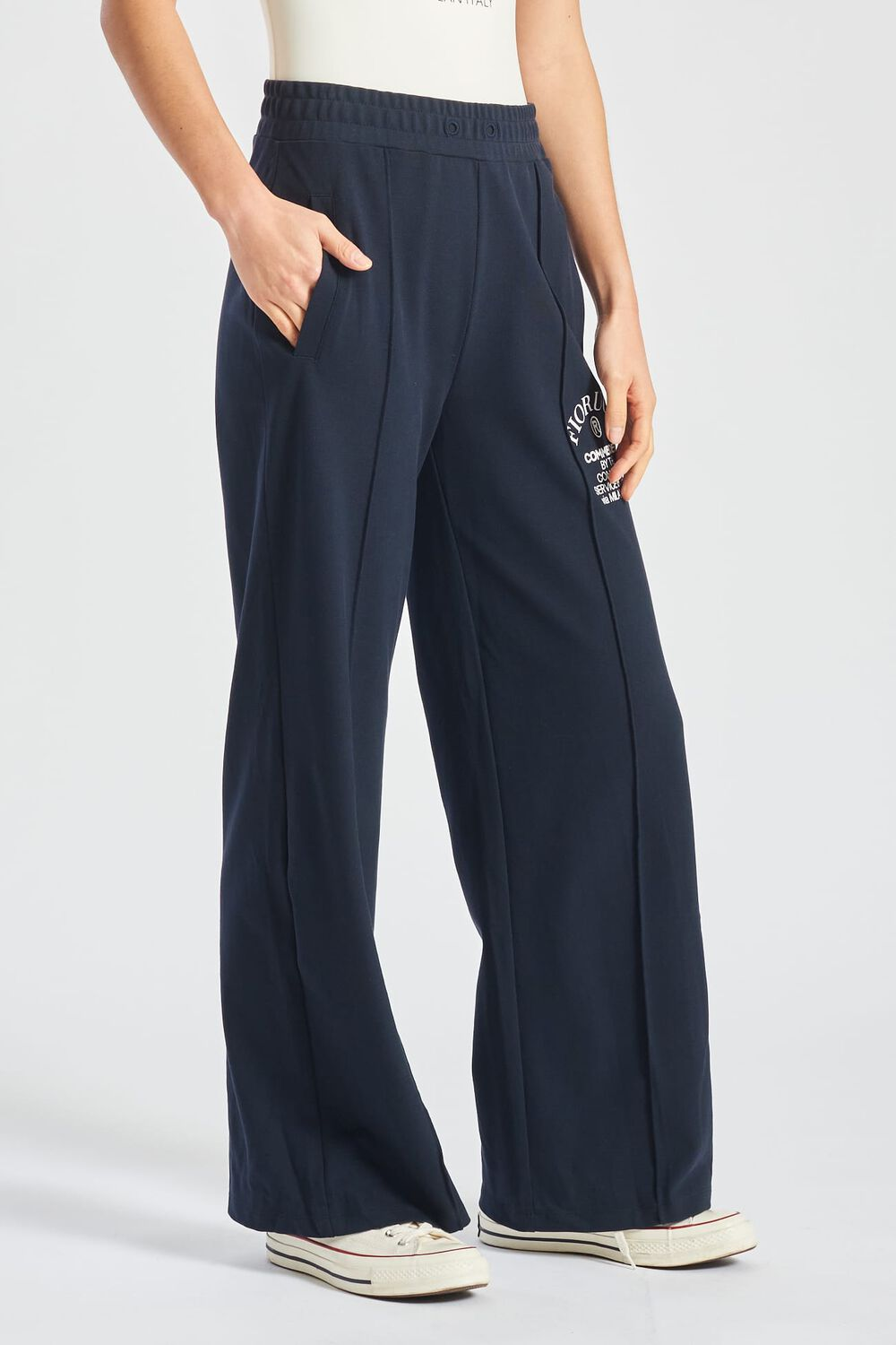 Commended Wide Legged Joggers Navy