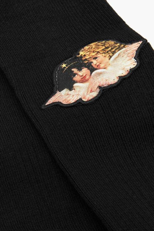 Angels Socks Black
