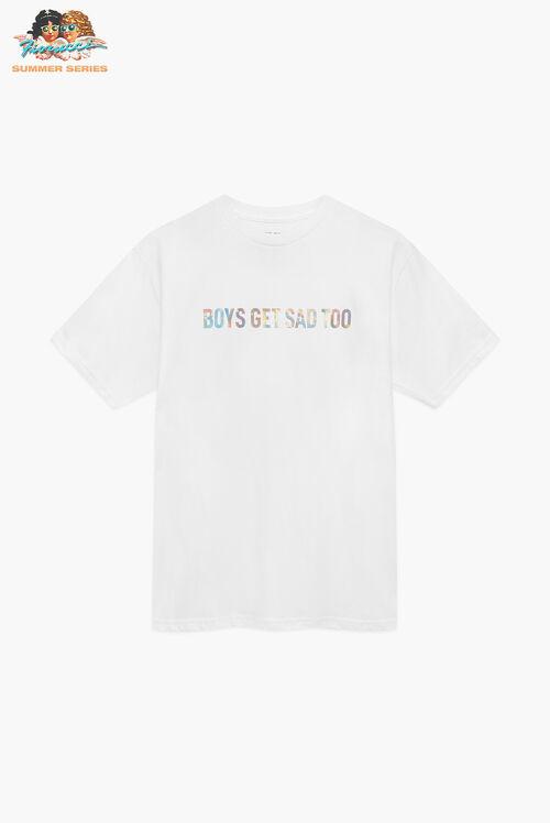 Boys Get Sad Too The Hologram T-Shirt White
