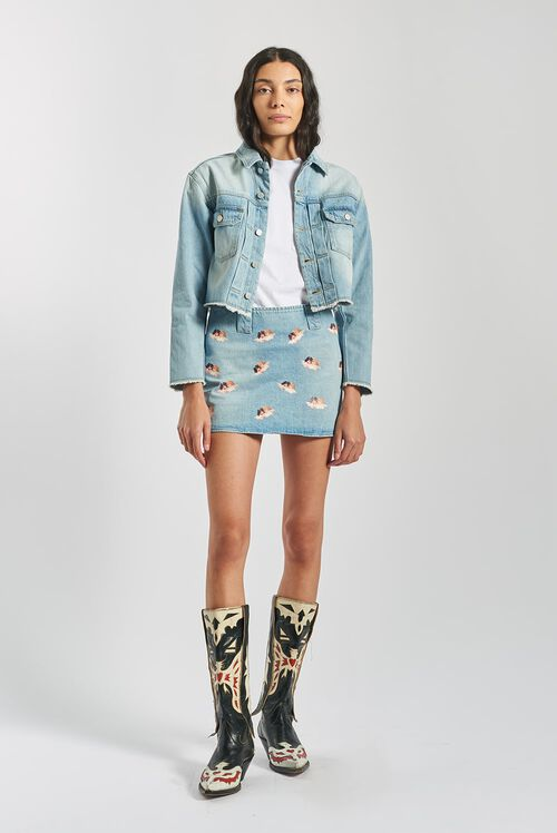 Angels Denim Skirt Blue
