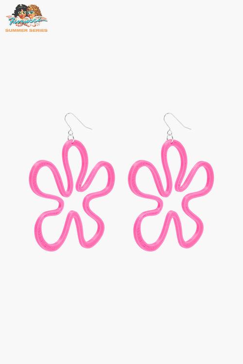 Tara Khorzad Pink Flower Power Earrings