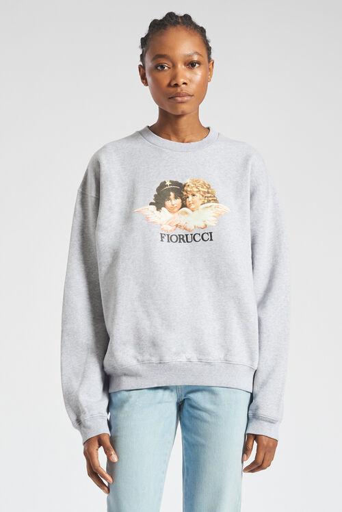 Angels Sweatshirt Light Grey