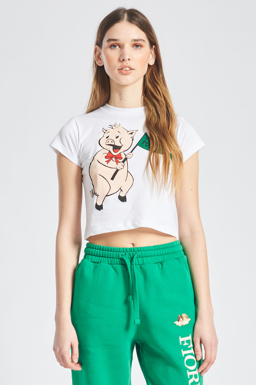 Pancetta Crop T-Shirt White