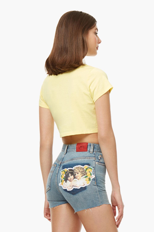 a919d6f26d9 Angels Logo Crop T-Shirt Lemon Yellow