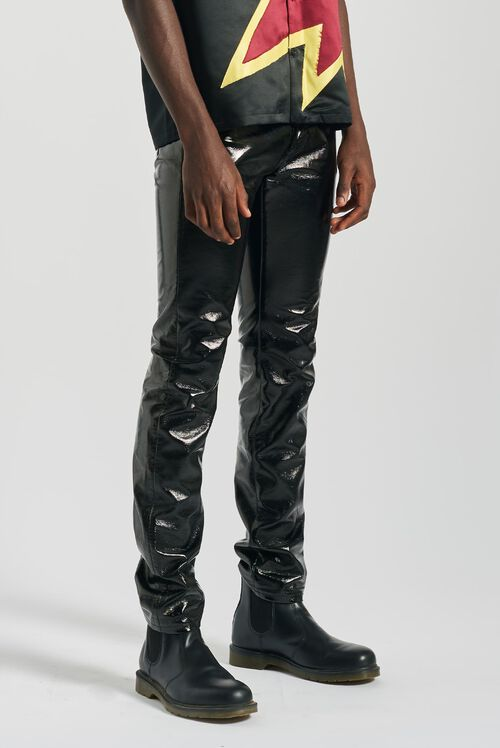 Rowan Vinyl Trousers Black