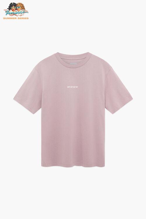 Boys Get Sad Too Logo T-Shirt Lilac