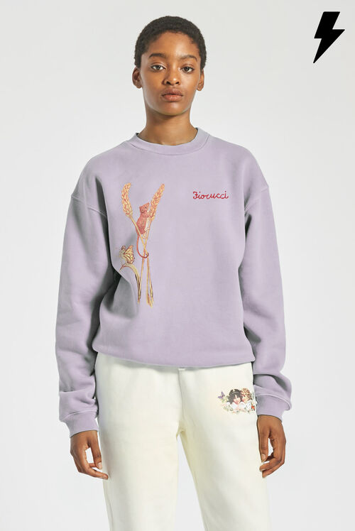 Woodland Mouse Sweatshirt Lilac