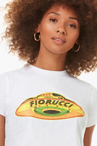 Flying Saucer Crop T-Shirt White