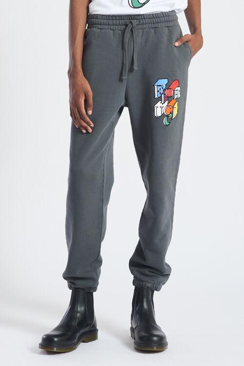 Flying Logo Joggers Charcoal Grey