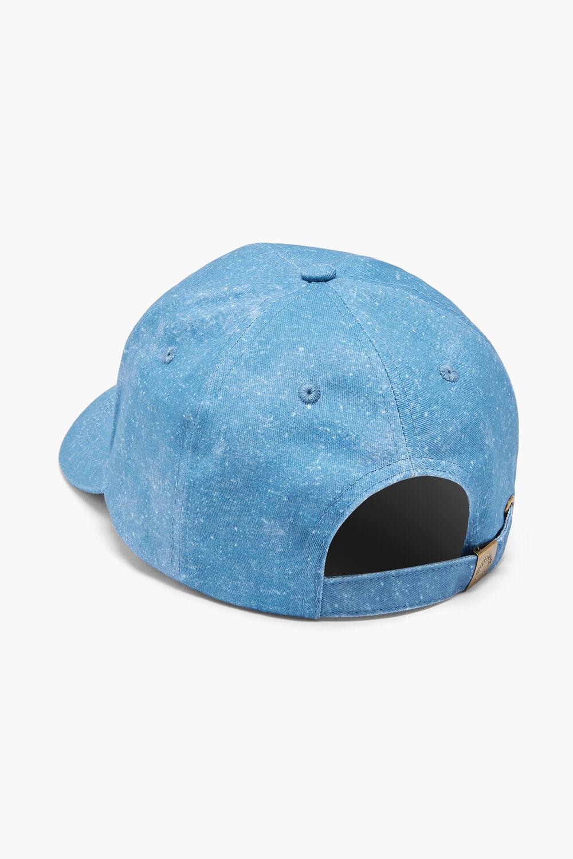 Angles Acid Wash Denim Cap Blue