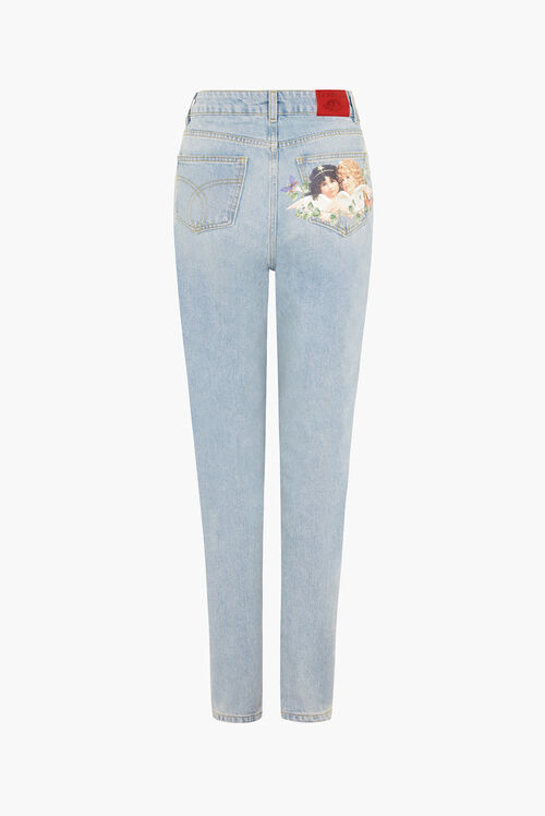 Butterfly Angels Tara Tapered Jeans Blue