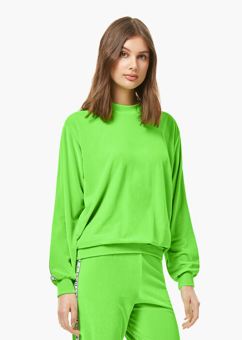 Neon Velour Top Green
