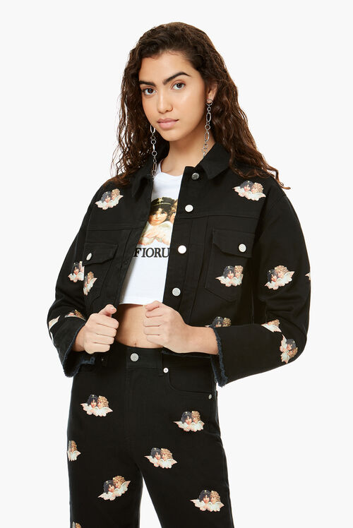 All Over Mini Angels Berty Jacket Black
