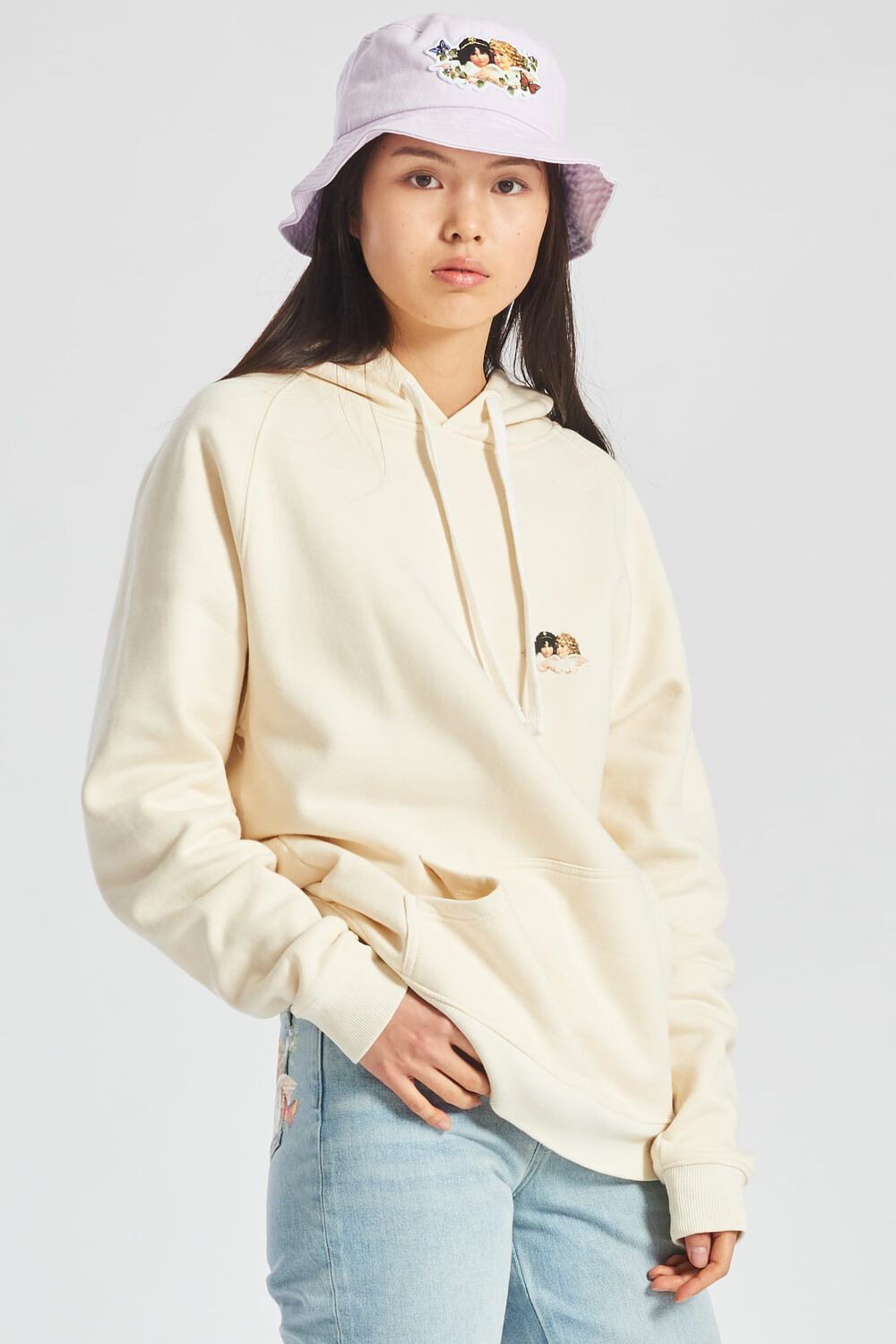 Icon Angels Hoodie Cream