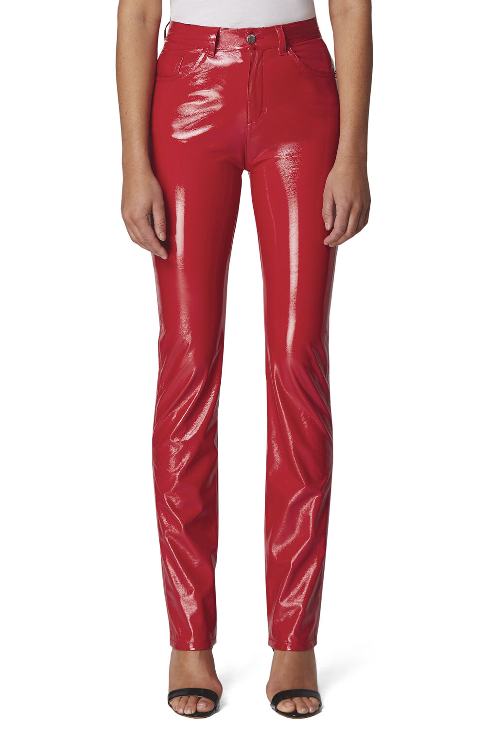 Yves Cigarette Vinyl Trousers