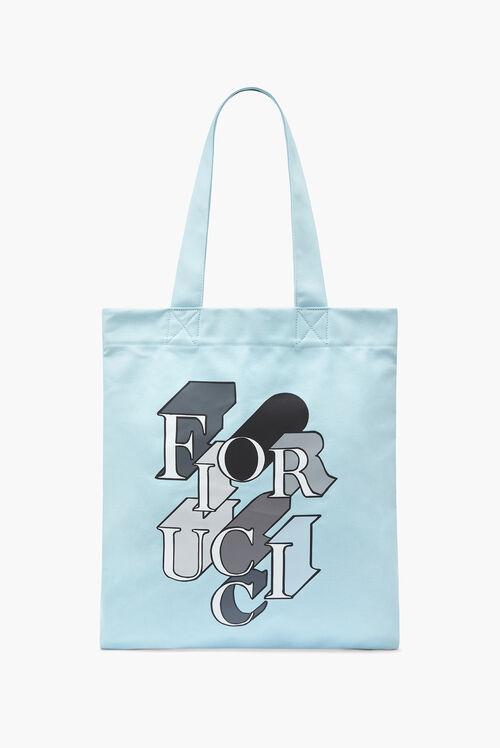 Mono Logo Tote Bag Blue