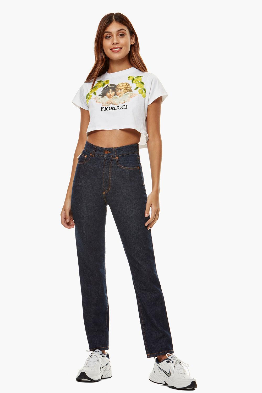 Tavi Crop Angels T-Shirt White