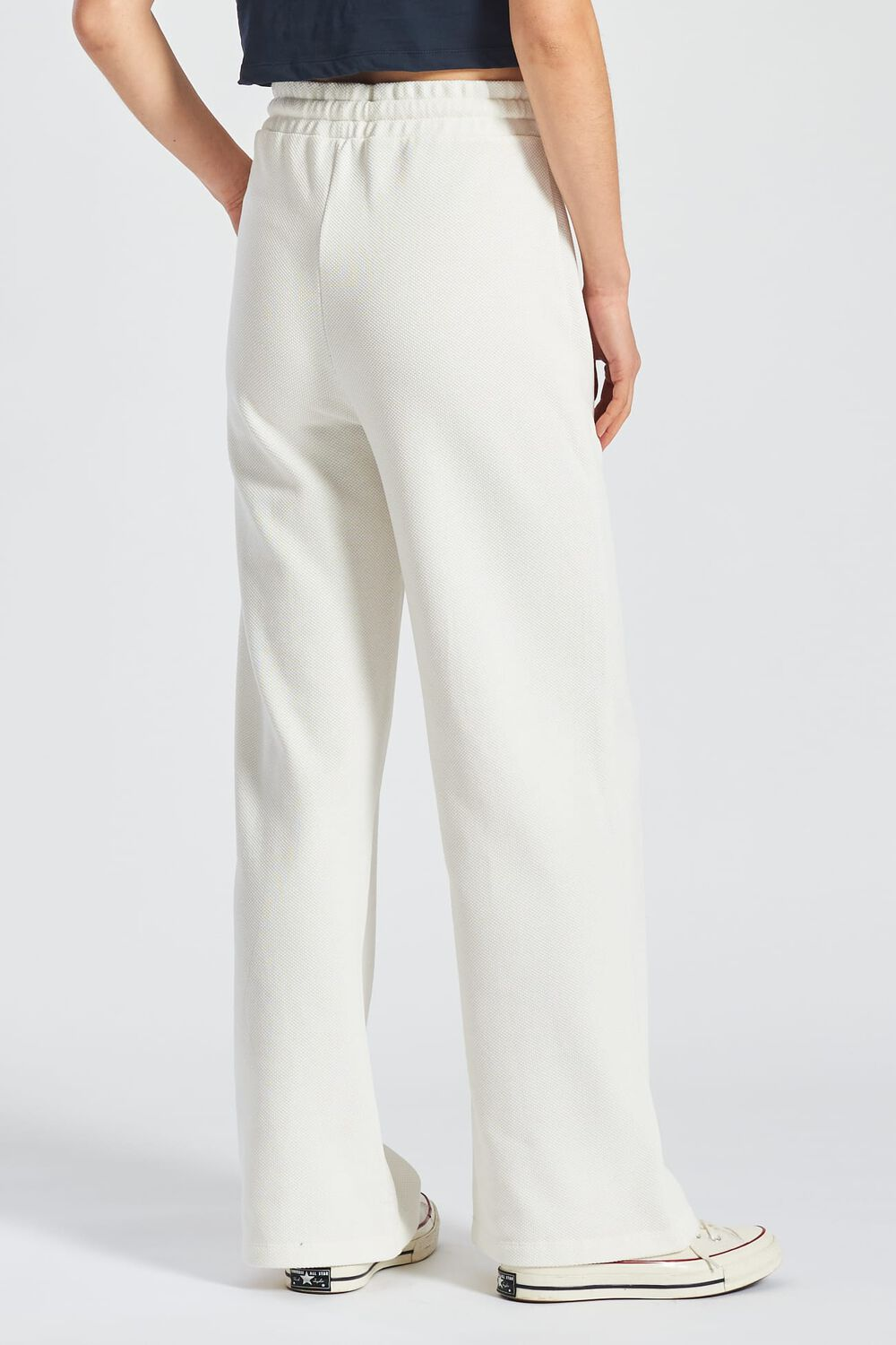 Commended Wide Legged Joggers White