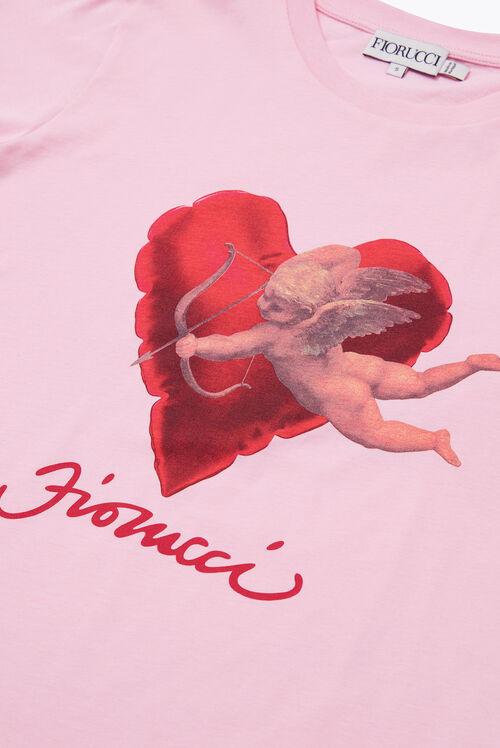Heart & Cherub T-Shirt Pink