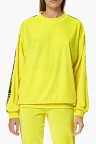 Neon Velour Top Yellow