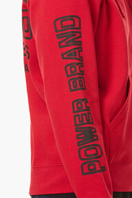 Power Brand Zip Hoodie Red