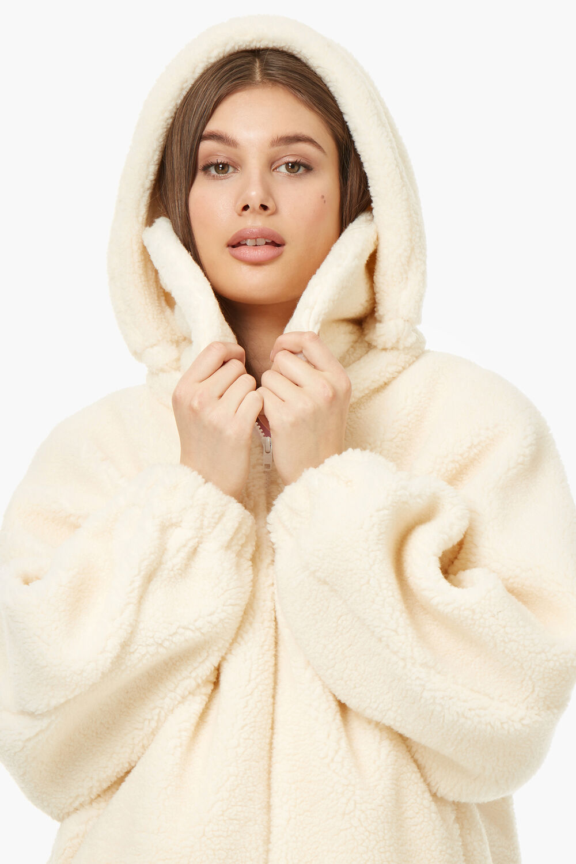 Shearling Hooded Coat