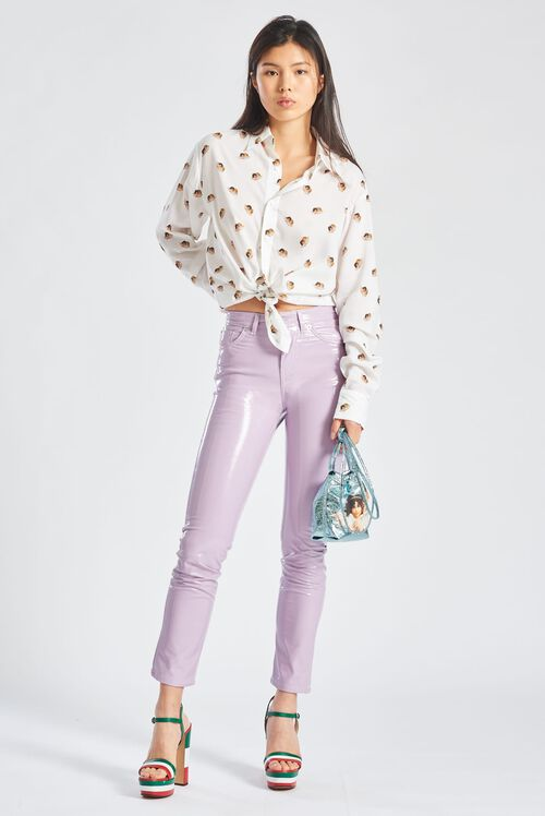 Yves Vinyl Trousers Lilac