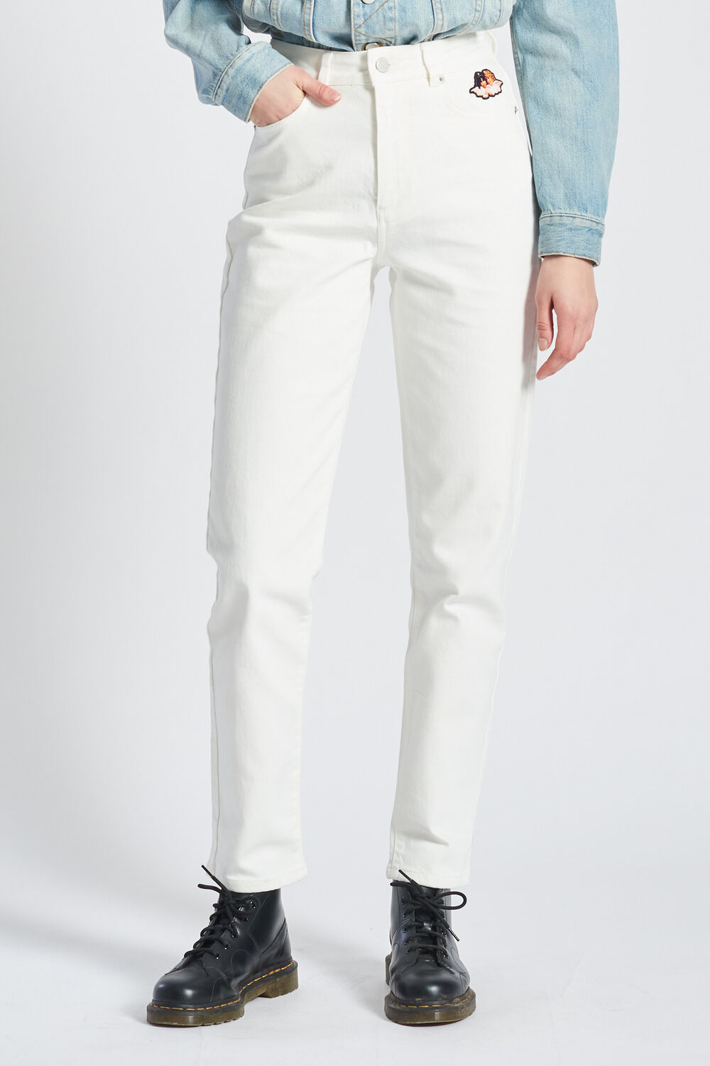 Icon Angels Tara Tapered Jeans Cream