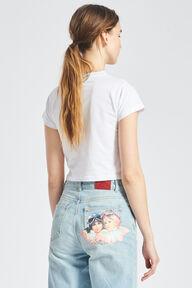 Speed Queen Angels Crop T-Shirt White