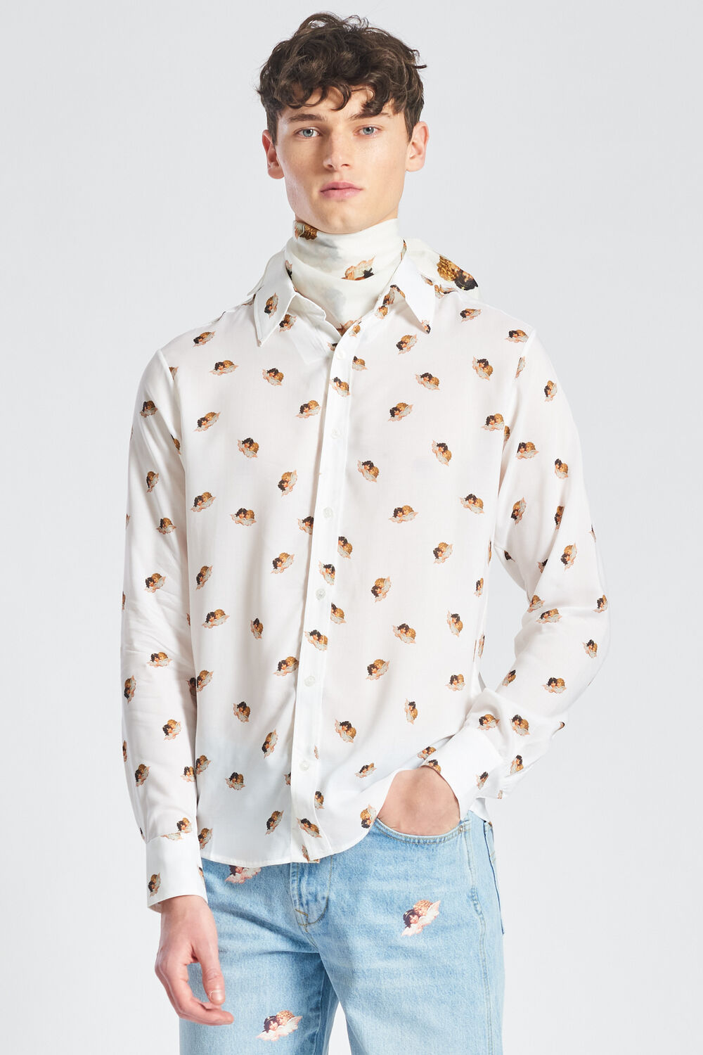 All Over Angels Shirt White