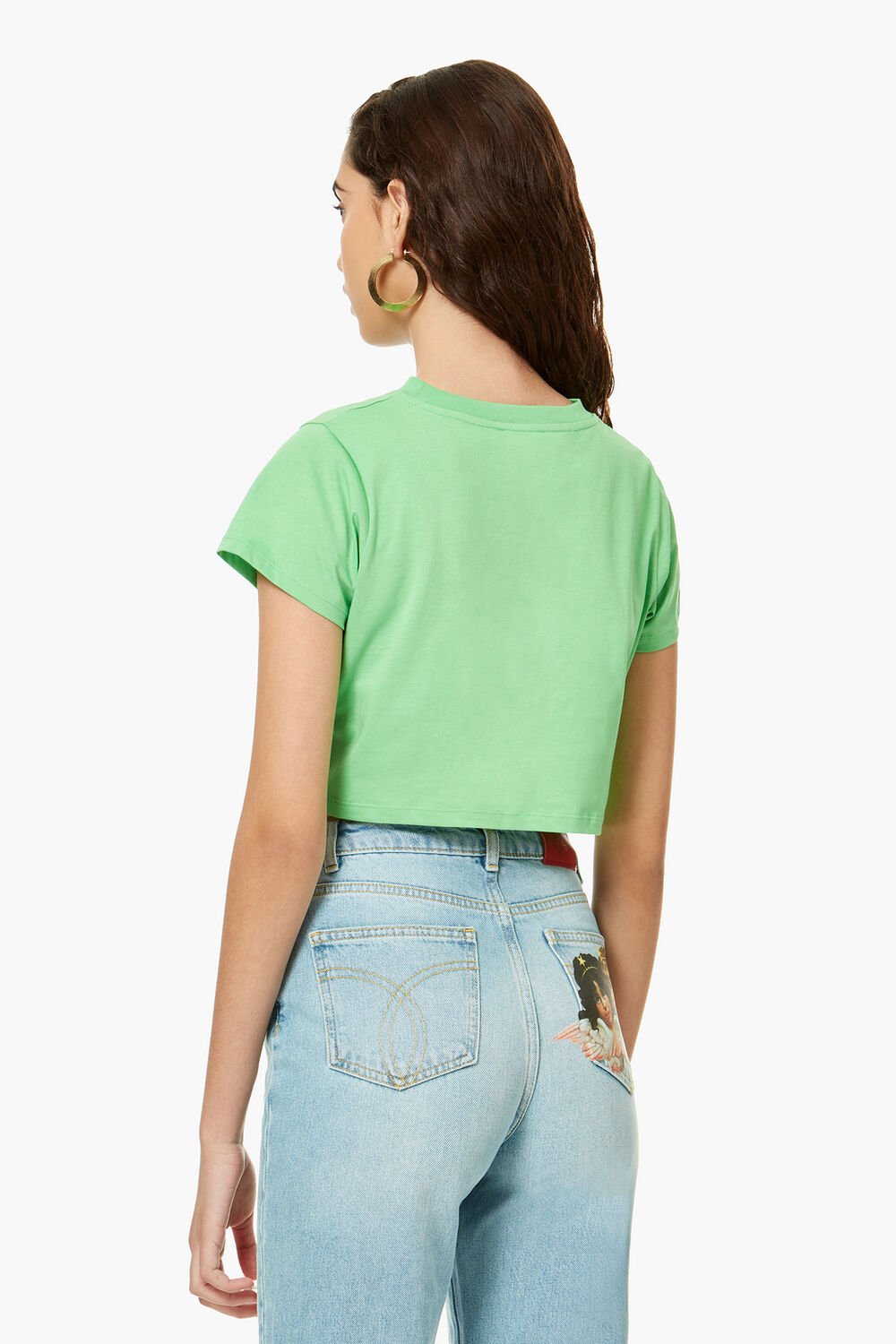 Flying Saucer Crop T-Shirt Green