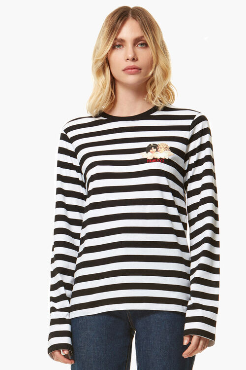 Stripe Long Sleeve Angels T-Shirt