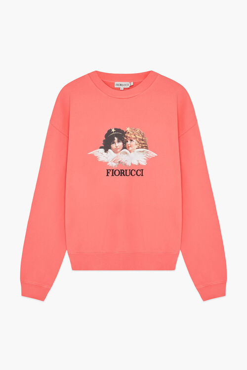 Angels Sweatshirt Peach Pink