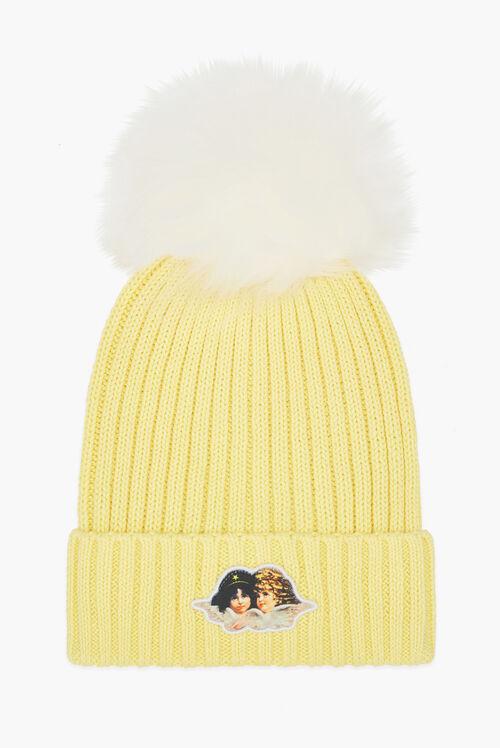 Icon Angels Bobble Hat Yellow