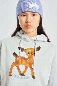 Deer Graphic Hoodie Off White