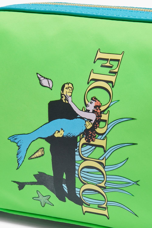 Frankenstein Mermaid Logo Wash Bag Green