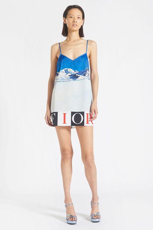 Mountain Mini Slip Dress Blue