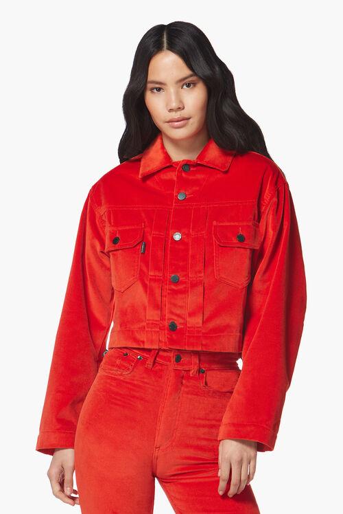 Berty Velvet Jacket Red