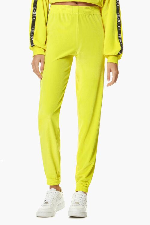 Neon Velour Joggers Yellow